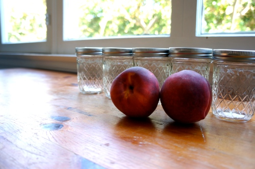 jars and peaches