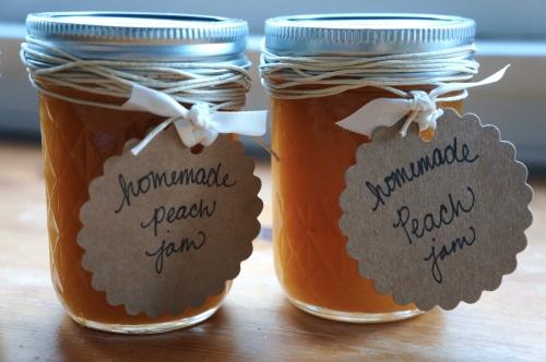two peach jams