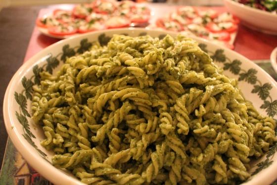 Pasta with my Creamy Kale Pesto