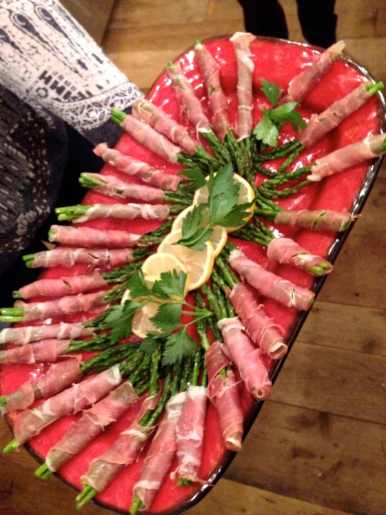 Asparagus and Proscuitto as the first course
