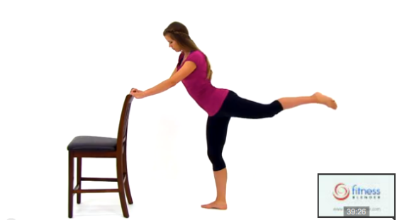 Still Image from the Cardio Barre Workout Video
