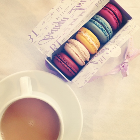 Macaroons and Tea from Bottega Louie