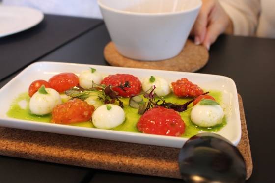 Buffalo Mozzarella Salad done a different way